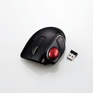 エレコム(ELECOM) トラックボールマウス 小型 親指 5ボタン 静音 無線 ブラック M-MT...