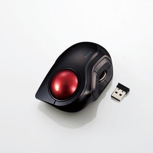 エレコム(ELECOM) トラックボールマウス 小型 人差し指 5ボタン 静音 無線 ブラック M-...
