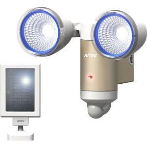ライテックス LEDセンサーライト屋外ソーラー 防雨仕様 フラッシングモード付 S65L|f-fact