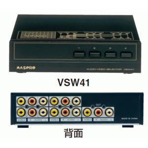 マスプロ AVセレクター 4入力1出力 電源不要の簡単配線 VSW41|f-fact
