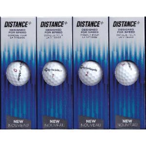 送料無料レターパック発送 ゴルフボール イエロー (3個×4)×2セット TaylorMade DISTANCE+ゴルフボール|f-fieldstore