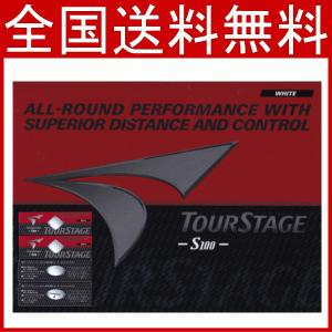 送料無料レターパック発送 Bridgestone ブリヂストン 外箱パッケージ赤  ツアーステージ S100    TOURSTAGE ゴルフボール 1ダース (12個)|f-fieldstore