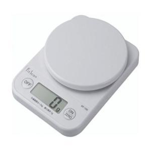 タニタ 送料無料メール便 TANITA デジタルお料理はかり KF-100 ホワイト0表示機能:差引、追加もカンタン計量|f-fieldstore