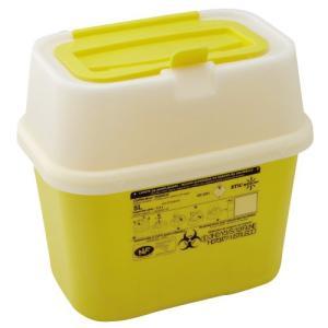 感染性廃棄物安全処理容器シャープスコンテナー 5.0リットル容量:3.3リットルW226×D156×H211mm重量:400g材質:ポリプロピレン(134℃オートクレーブ可)|f-folio