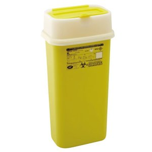 感染性廃棄物安全処理容器シャープスコンテナー 8.0リットル容量:5.1リットルW195×D135×H399mm重量:531g材質:ポリプロピレン(134℃オートクレーブ可)|f-folio