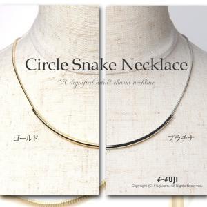 カーブラインネックレス スネークチェーンネックレス シンプルな大人の魅力 気になるサークルライン クロネコDM便送料無料 f-fuji