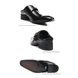ビジネスサンダル 917 BL ブラック メンズ モンクストラップタイプ LASSU&FRISS ラスアンドフリス 本皮 ビジネスシューズ 紳士サンダル 送料無料 f-fuji 04