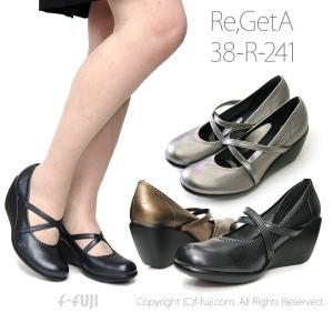 リゲッタ パンプス 7cm 38R241 Re:GetA はきやすい 歩きやすい かわいい 靴 日本製 送料無料 サイズ交換再送料1回無料 限定クーポン有|f-fuji