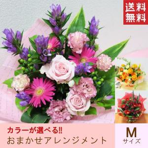 送料無料!カラーが選べるおまかせアレンジメント!スタッフが季節のお花を厳選しお作りしてお届けいたしま...