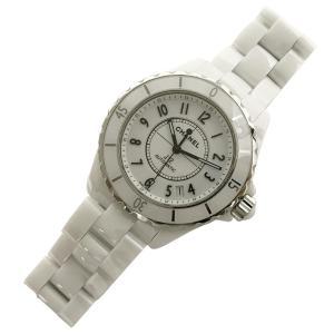 シャネル 腕時計 J12 ホワイト セラミック オートマ H0970 展示品 未使用 美品 自動巻 CHANEL 保証書有 18年7月購入品 フルコマ f-high-c