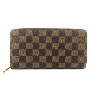 ルイ ヴィトン 長財布 ダミエ N41661 ジッピーウォレット ブラウン 中古 極美品 未使用 LOUIS VUITTON 定番 人気 財布|f-high-c