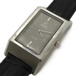 オメガ 手巻き 腕時計 デビル 中古 OMEGA DE VILLE メンズ 革ベルト ヴィンテージ アンティーク 時計 ウォッチ スクエア|f-high-c