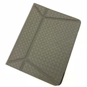 ボッテガヴェネタ タブレット iPad ケース イントレチャート カバー カーキ BOTTEGA VENETA 中古 美品|f-high-c