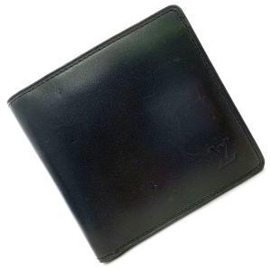 LOUIS VUITTON ルイ ヴィトン 2つ折り 財布 ポルト ビエカルト クレディ モネ ノマド ノワール ウォレット M85016 中古 ブラック f-high-c