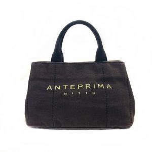 ANTEPRIMA アンテプリマ MISTO トートバッグ ブラウン キャンバス ハンドバッグ 美品 中古 バック ミスト|f-high-c