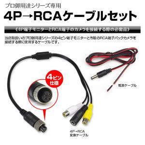 メール便送料無料 4ピン RCAケーブル 接続ケーブル RCA端子 4P 変換ケーブル バックカメラ バックモニター|f-innovation