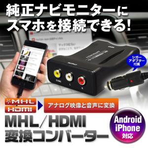 HDMI/MHL 変換 コンバーター インターナビ internavi 純正ナビ モニター RCA AV スマートフォン iPhone アンドロイド Android Xperia Galaxy|f-innovation