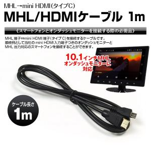 ケーブル MHL mini HDMI タイプC 1m スマートフォン スマホ モニター|f-innovation