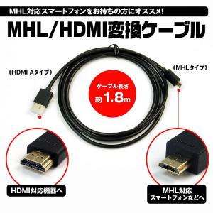 メール便送料無料 ケーブル MHL HDMI タイプA 1.8m スマートフォン スマホ モニター f-innovation
