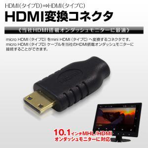 定形外送料無料 microHDMI タイプD → miniHDMI タイプC 変換 HDMI 端子 コネクタ モニター|f-innovation