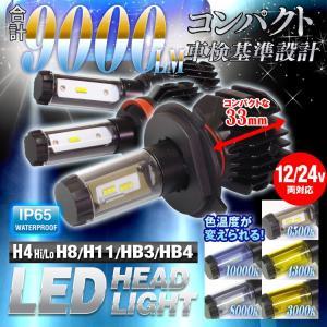 LEDヘッドライト H4 車検 基準設計 フォグランプ LED 6000ルーメン H4 Hi/Lo H8 H11 HB4 PSX26W 12V 防水|f-innovation