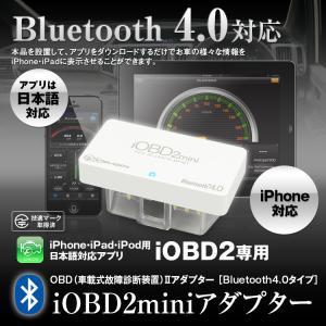 iOBD2 日本語 車両診断ツール Bluetooth ワイヤレス OBD2 iPhone iPad Android エラーコード消去 速度 回転数 燃費 電圧 定形外送料無料|f-innovation