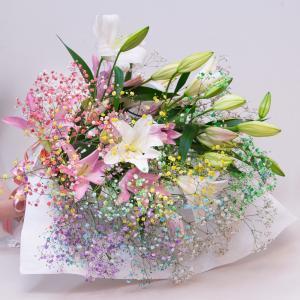 誕生日 ロマンチックリリーブーケ|f-iwai