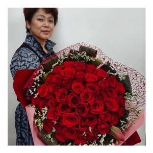 真っ赤なバラのプロポーズブーケ f-kinomi