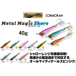 アクアウェーブ メタルマジック ショア 40g MetalMagic Shore ソルトルアー メタルジグ AquaWave(メール便対応)|フィッシングマリンPayPayモール店