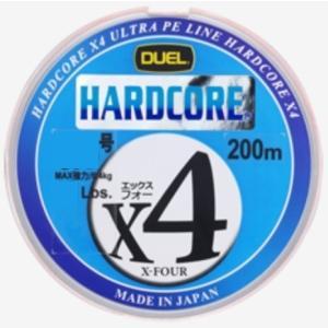 DUEL ハードコアX4 200m 0.8号 4本組PEライン(メール便対応)