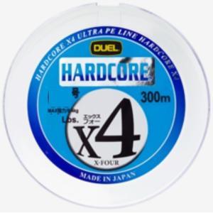 DUEL ハードコア X4 300m 1.2,1.5,2.0,2.5,3,4号 4本組PEライン(メール便対応)|f-marin