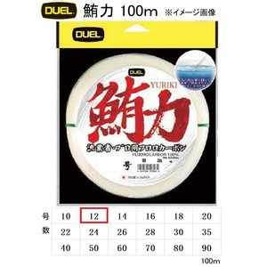 DUEL 鮪力 100m 12号 漁業者・プロ用日本製フロロカーボンハリス・リーダー(メール便対応)