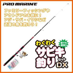 プロマリン 誰でも簡単!わくわくサビキ釣りセット DX 270 [270cm] (釣竿セット・リール...