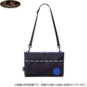 【取り寄せ商品】 エバーグリーン B-TRUE サークルロゴ サコッシュ (ブラック×ブルー) (鞄/バッグ) /メール便配送可 /(c) f-marunishiweb2nd