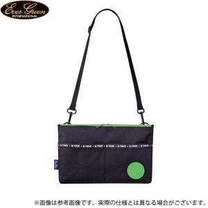 【取り寄せ商品】 エバーグリーン B-TRUE サークルロゴ サコッシュ (ブラック×グリーン) (鞄/バッグ) /メール便配送可 /(c) f-marunishiweb2nd