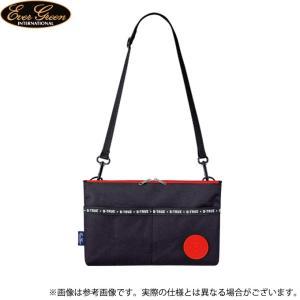 【取り寄せ商品】 エバーグリーン B-TRUE サークルロゴ サコッシュ (ブラック×レッド) (鞄/バッグ) /メール便配送可 /(c) f-marunishiweb2nd