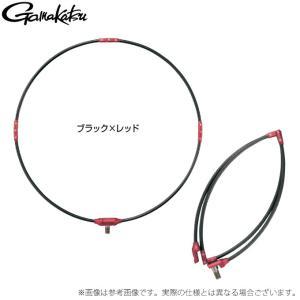 【取り寄せ商品】 がまかつ タモ枠 (四折りジュラルミン) GM835 (ブラック×レッド 40cm) (c)|f-marunishiweb2nd