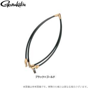 【取り寄せ商品】 がまかつ タモ枠 (四折りジュラルミン) GM835 (ブラック×ゴールド 40cm) (c)|f-marunishiweb2nd
