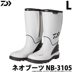 【取り寄せ商品】ダイワ ネオブーツ NB-3105 グレー L (26.5cm) (2020年モデル) (c)|f-marunishiweb2nd
