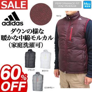 【2015年新作 Fall】adidas モルカル中綿を使用したウインドベスト (メンズ ゴルフウェ...