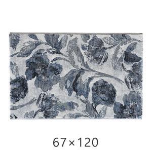 マット 67×120cm ベルギー製 ウィルトン織 クラウディア モリヨシ ラグ カーペット ラグ 上品 デザイン ラグ マット|f-news