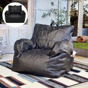 ビーズクッション おしゃれ Souffler Beads Sofa ソフラービーズソファ 背もたれ 座椅子 一人用 1人掛け オシャレ モノトーン 1人ソファ モリヨシ ブラック 黒 f-news