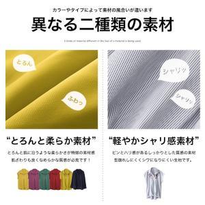 Vネック スキッパーシャツ ブラウス トップス...の詳細画像4