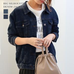 Gジャン レディース ビッグ ゆったり スウェット デニムジャケット ジージャン ブルゾン 大きいサイズ  送料無料|f-odekake