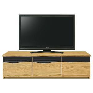 165TVボード リバー 前板スイング型 引出しタイプ、スモークガラス仕様 裏面化粧仕上げ 2色対応|f-room