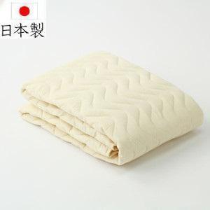 【日本製】 ダブルサイズ 防縮/防ダニ/防臭落用ベッドパッド|f-room