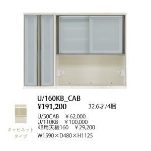 シギヤマ家具製 160 キッチンボード 上台 フォルツ U/50CAB+U/110KB+KB用天板160 キャビネットタイプ 開梱設置送料無料(北海道・沖縄・離島は除く)|f-room