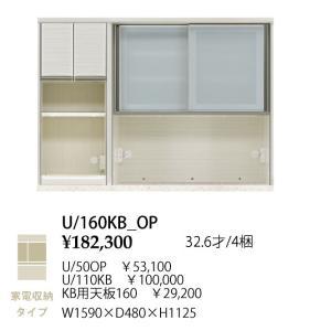 シギヤマ家具製 160 キッチンボード 上台 フォルツ U/50OP+U/110KB+KB用天板160 家電収納タイプ 開梱設置送料無料(北海道・沖縄・離島は除く)|f-room