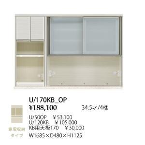 シギヤマ家具製 170 キッチンボード 上台 フォルツ U/50OP+U/120KB+KB用天板170 家電収納タイプ 開梱設置送料無料(北海道・沖縄・離島は除く)|f-room