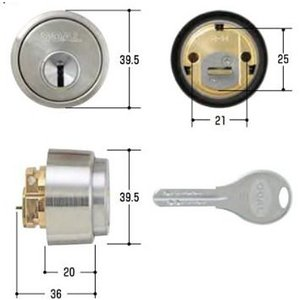 GOAL(ゴール) 交換用シリンダー GCY-211 V-LXシリンダー シルバー色|f-secure